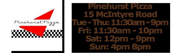 Pinehurst Pizza Inside Pinehurst